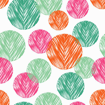 폴카 도트 원활한 패턴입니다. 낙서 텍스처. 섬유 관계.