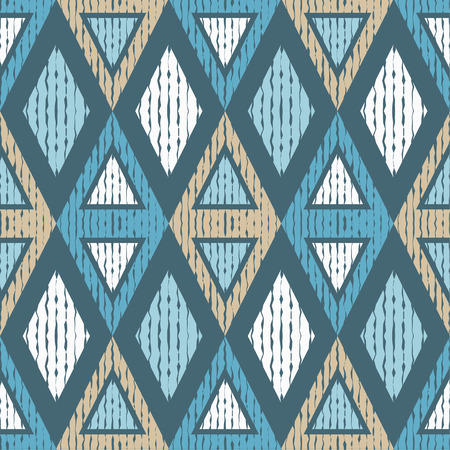 canvas print: Seamless geometric background. Scribble texture. Textile rapport.