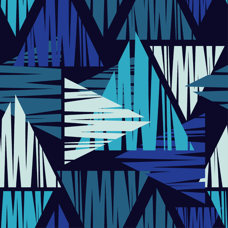 Seamless abstract textile geometric pattern