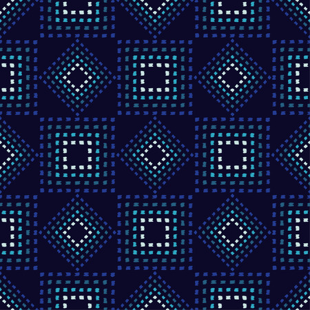 Ethnic boho seamless pattern. Embroidery on fabric. Scribble texture. Folk motif. Textile rapport.