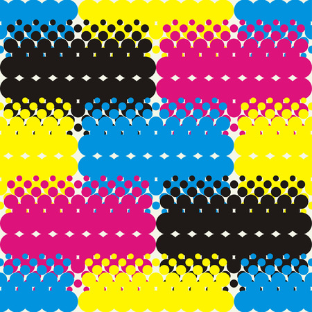 Seamless abstract geometric halftone pattern. Dots texture. Textile rapport. Illustration