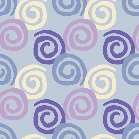 Seamless geometric pattern, Squiggles texture Vettoriali