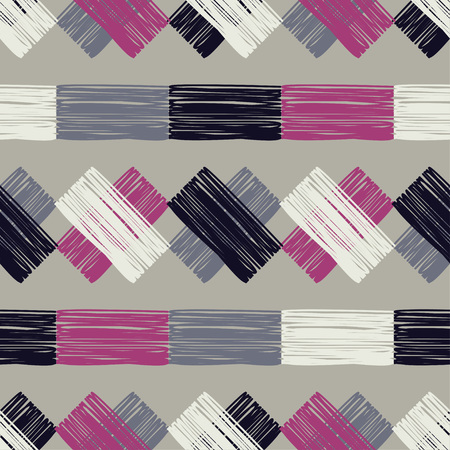 Painted stripes. Seamless geometric pattern. Bright colors and simple shapes. Trendy seamless pattern designs.