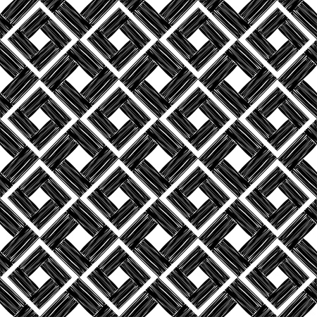 Black and white painted stripes. Seamless geometric pattern. Bright colors and simple shapes. Trendy seamless pattern designs.