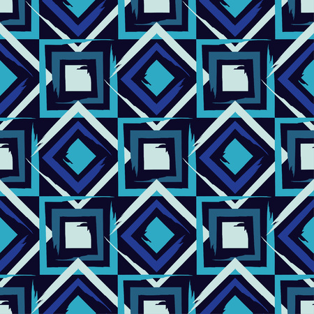 Brushwork. Seamless geometric pattern. Bright colors and simple shapes. Trendy seamless pattern designs.