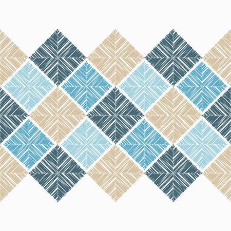 Seamless geometric pattern. The texture of the rectangles. Scribble texture. Textile rapport illustration.