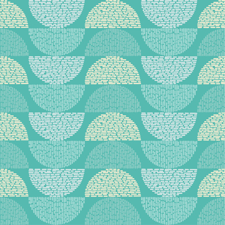 Seamless geometric pattern. The texture of the semicircle. Drops texture. Textile rapport illustration.