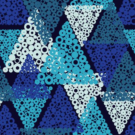 Seamless geometric pattern. Drops texture Vector illustration.