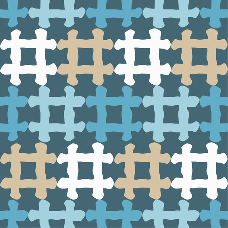 A Seamless geometric pattern. Texture of multi-colored squares. Scribble texture. Textile rapport.