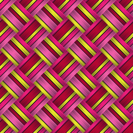 Seamless geometric pattern. Texture of squares. Embroidery on fabric. Scribble texture. Textile rapport. Illustration