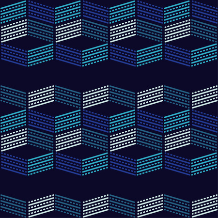 Seamless geometric pattern. Texture of stripes and dots. Scribble texture. Textile rapport. Illustration