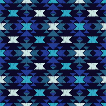 Blue, black, purple, white, textured and seamless pattern. Stok Fotoğraf - 97222894