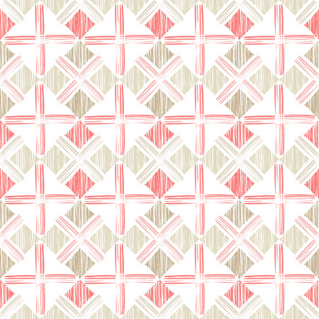 Ethnic boho seamless pattern. Scribble texture. Embroidery on fabric. Folk motif. Textile rapport.