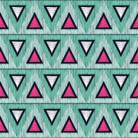 Seamless geometric pattern triangular  texture
