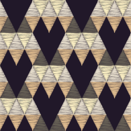 Seamless geometric pattern. The pattern of colored triangles. 向量圖像