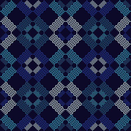 Seamless geometric pattern. The texture of zigzag and of zigzag and wave. Scribble texture. Textile rapport.