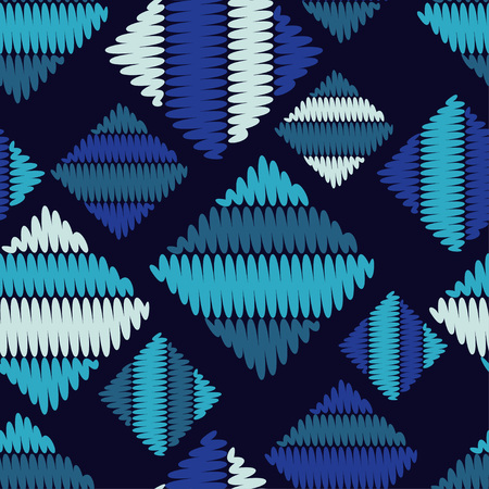 Seamless geometric pattern. The texture of the squares. Knitted texture. Textile rapport.