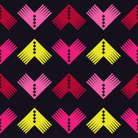 Seamless geometric pattern. The texture of the corners. Scribble texture. Textile rapport.