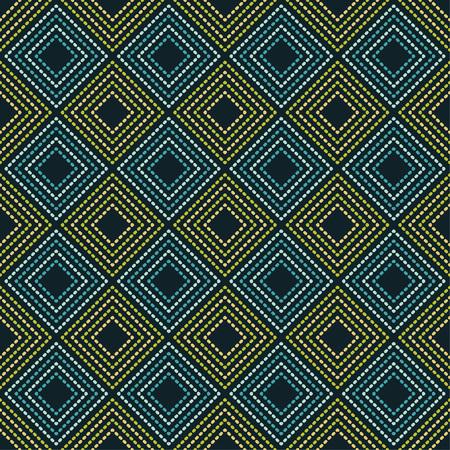 Seamless geometric pattern. The texture of rhombus. Drops texture. Textile rapport illustration. 向量圖像