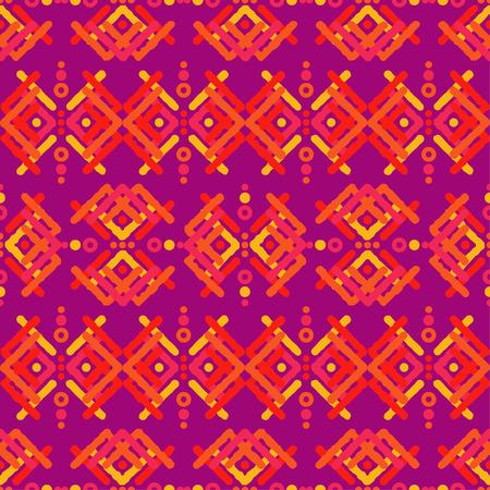 Ethnic boho seamless pattern, Geometric background illustration.