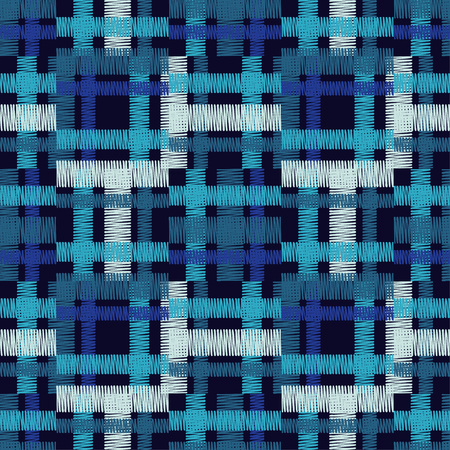 Seamless geometric pattern. The texture of the colored cage. Illustration