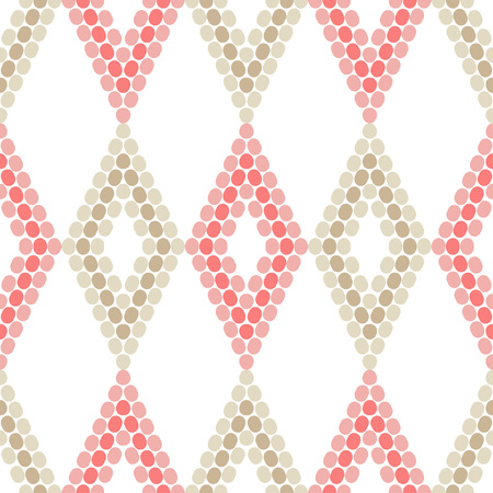 Seamless geometric pattern. The texture of the dots on diamond shape. Textile rapport.