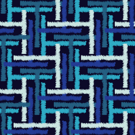 Seamless geometric pattern. Texture of cells and strips.