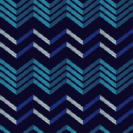 Seamless abstract geometric pattern. The texture of the zigzag. Scribble texture. Textile rapport. 向量圖像