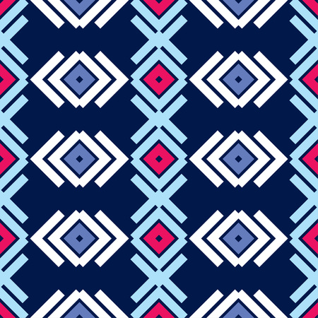 Seamless abstract geometric pattern. The texture of rhombus. Textile rapport.