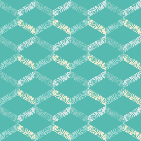 Seamless abstract geometric pattern. The texture of the palm leaves in a zigzag. Scribble texture. Textile rapport.