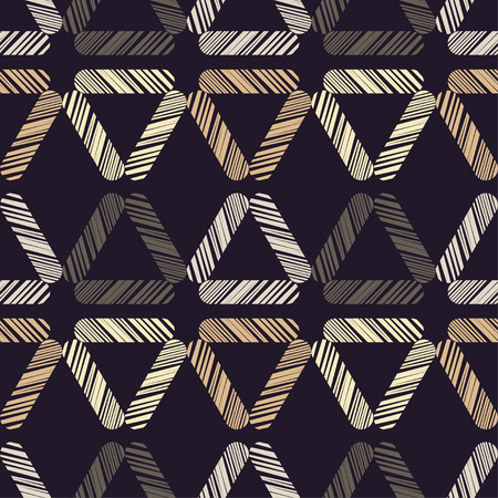 Seamless abstract geometric pattern. The texture of the triangles. Scribble texture. Textile rapport. 向量圖像
