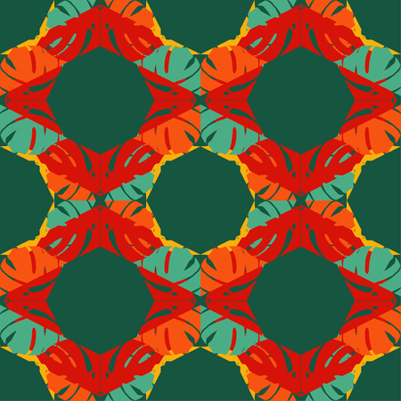 Seamless abstract geometric pattern. Texture of palm leaves. The texture of the strips. Scribble texture. Textile rapport.
