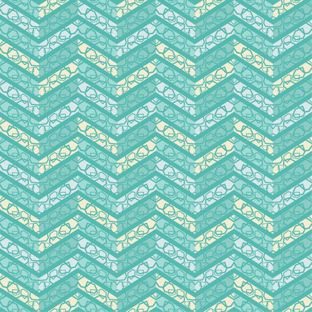 Seamless abstract geometric pattern. The texture of the zigzag. Scribble texture. Textile rapport. Illustration