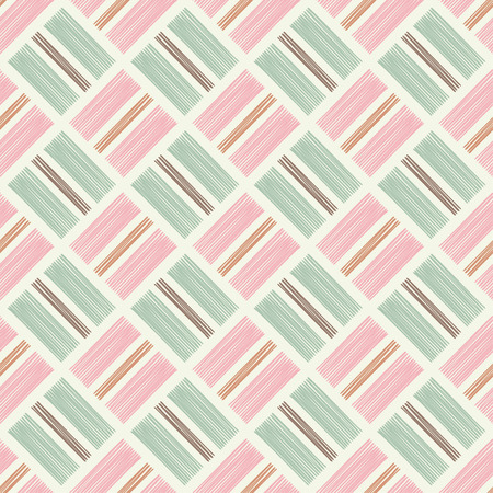 Seamless abstract geometric pattern. The texture of rhombus. Manual hatching. Scribble texture. Textile rapport.