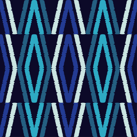 Seamless abstract geometric pattern. The texture of rhombus. Hand hatching. Scribble texture. Textile rapport. 向量圖像