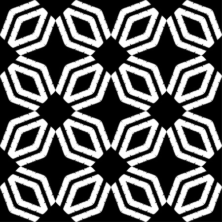Seamless abstract geometric pattern. The texture of rhombus. Hand hatching. Scribble texture. Textile rapport. Illustration