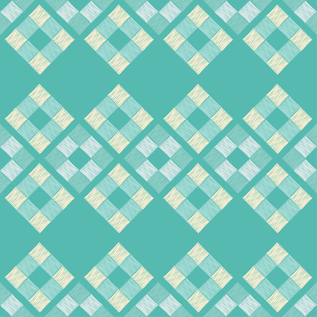 Seamless abstract geometric pattern. Brushwork. Weave. Hand hatching. Scribble texture. Textile rapport.