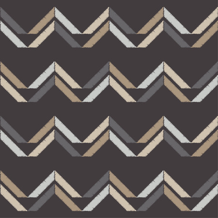 Seamless abstract geometric pattern. The texture of the zigzag. Brushwork. Hand hatching. Scribble texture. Textile rapport.