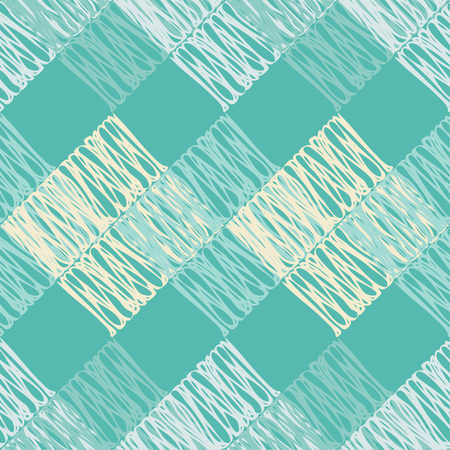 Seamless abstract geometric pattern. The texture of the squares. Brushwork. Hand hatching. Scribble texture. Textile rapport. Illustration