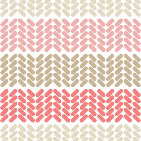 Seamless abstract geometric pattern. Knitted texture of braids. The texture of the strips. Textile rapport. Illustration