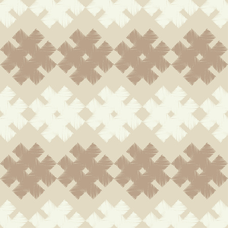 Seamless vector background with doodle snowflakes. Brushwork. Hand hatching. Winter pattern. Textile rapport.