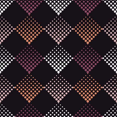 Seamless abstract geometric pattern. The texture of rhombus. The texture of the dots. Textile rapport.