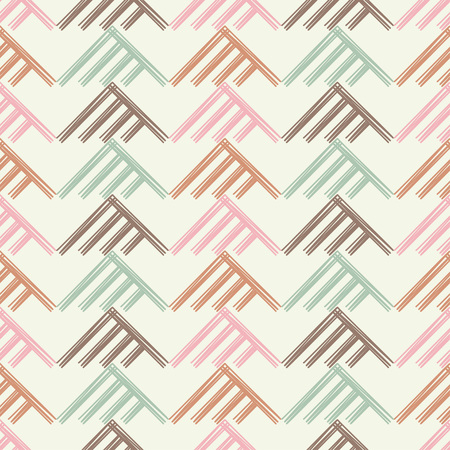 Seamless abstract geometric pattern. The texture of the triangles. Brushwork. Hand hatching. Scribble texture. Textile rapport.