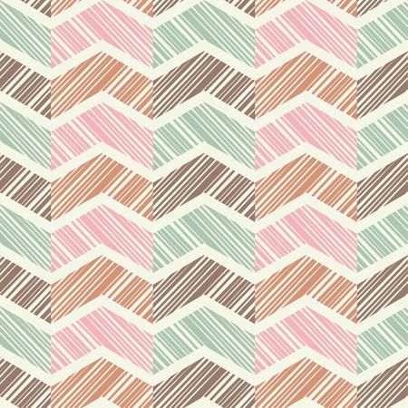 Ethnic boho seamless pattern. Hand hatching. Traditional ornament. Geometric background. Folk motif. Textile rapport.