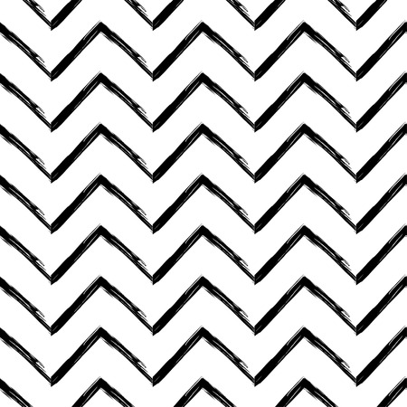 Seamless abstract geometric pattern. The texture of the zigzag. Brushwork. Hand hatching. Textile rapport.