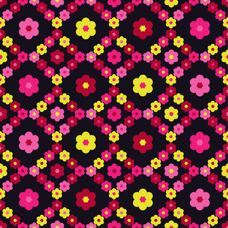 Seamless floral pattern. Background texture. Decorative floral ornament. Textile rapport.