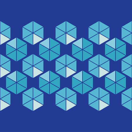 Seamless abstract geometric pattern. Hexagons texture. Textile rapport.