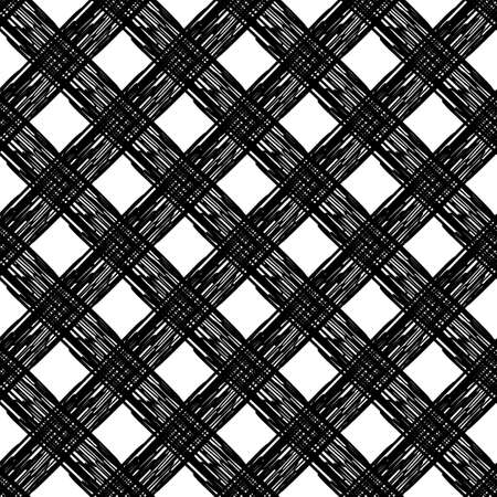 Seamless abstract geometric pattern. Texture with crosses. Scribble texture. Brushwork. Textile rapport. Illustration