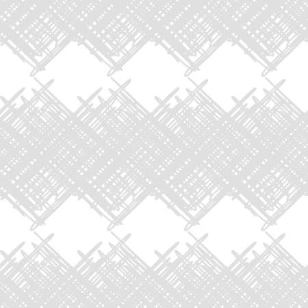 Seamless abstract geometric pattern. Texture with crosses. Scribble texture. Brushwork. Textile rapport. 向量圖像