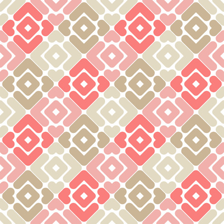Seamless abstract geometric pattern. Texture of strips and rhombuses. Textile rapport. Illustration